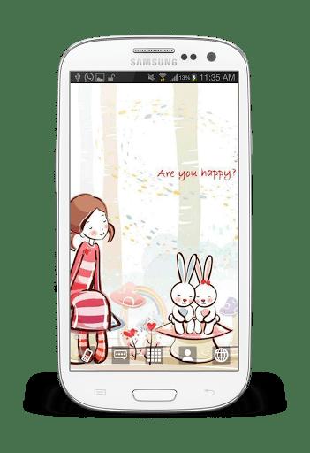 Скриншот Симпатичные девчушки обои для Android