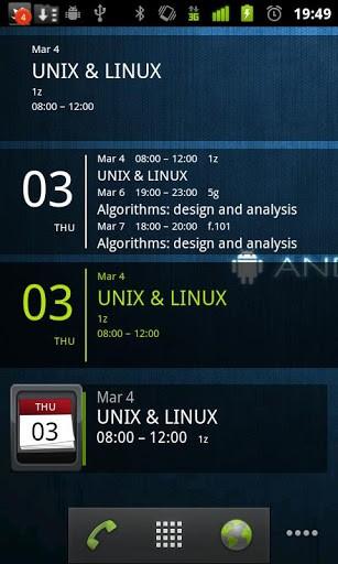 Скриншот Simple Calendar Widget для Android