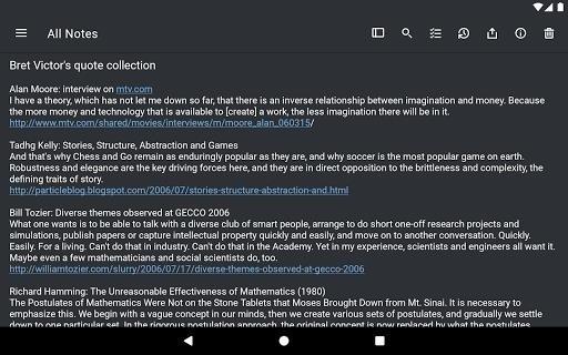 Скриншот Simplenote для Android