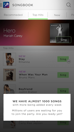 Скриншот Sing! Karaoke by Smule для Android