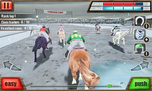 Скриншот Скачки 3D — Horse Racing для Android