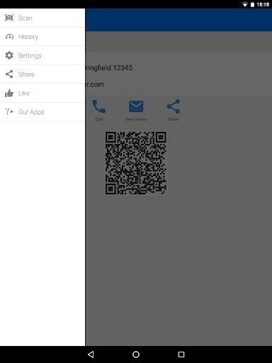Скриншот Сканер QR и штрих кодов для Android