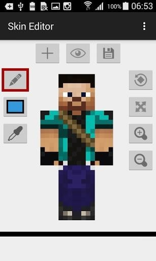 Скриншот Skin Editor for Minecraft для Android