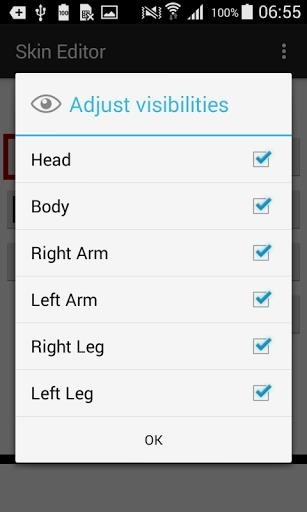 Скриншот Skin Editor for Minecraft для Android