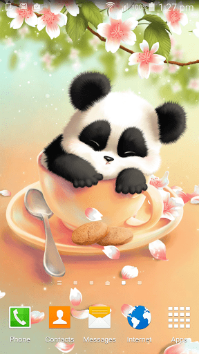 Скриншот Sleepy обои Panda для Android