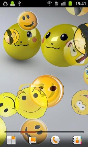 Скриншот Смайлики Живые Обои / Smiley LWP для Android