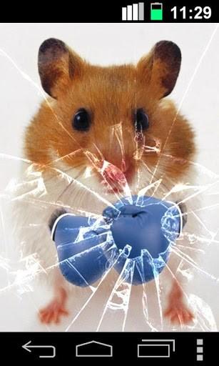 Скриншот Смешной Хомяк Треснувший Экран / Funny Hamster Cracked Screen для Android