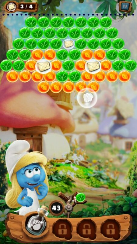 Скриншот Smurfs Bubble Story для Android