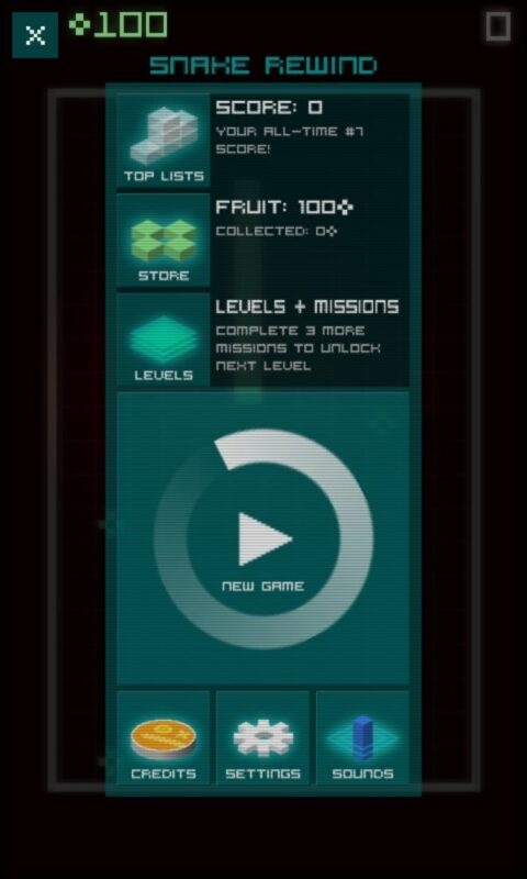 Скриншот Snake Rewind для Android