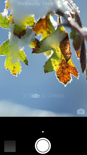 Скриншот Снег Блокировка экрана для Android