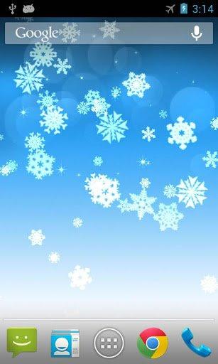Скриншот Снежинка Живые Обои для Android