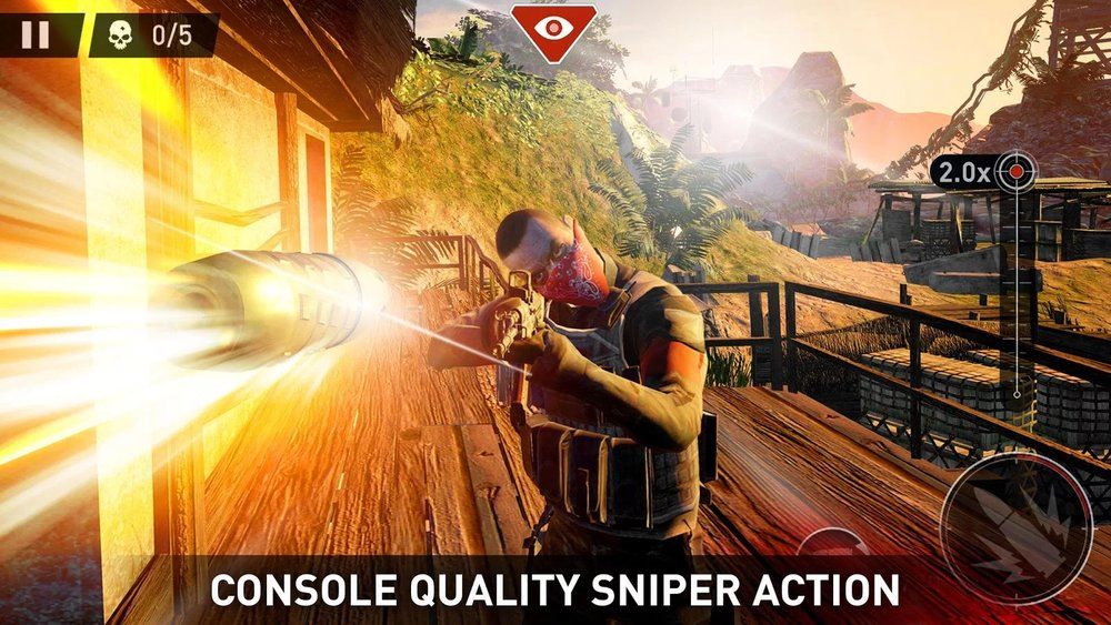 Скриншот Sniper: Ghost Warrior для Android