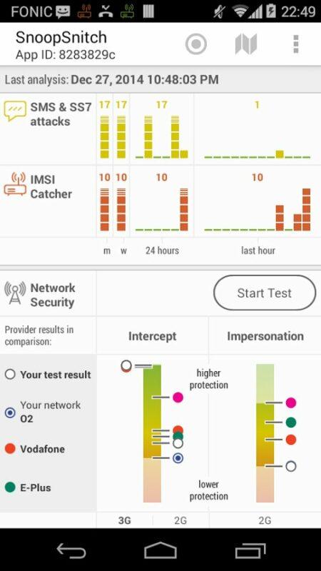 Скриншот SnoopSnitch для Android