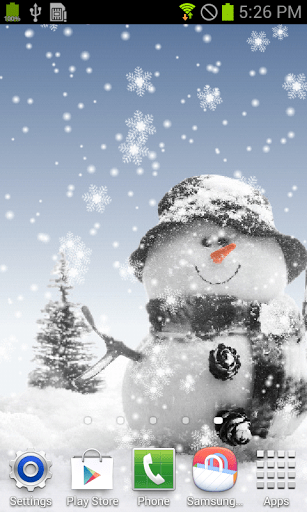 Скриншот Snowman Live Wallpaper для Android