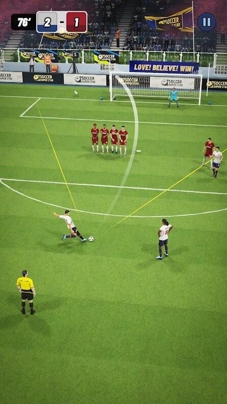 Скриншот Soccer Super Star для Android