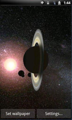 Скриншот Solar System 3D Wallpaper Lite для Android