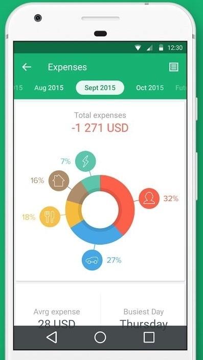 Скриншот Spendee для Android