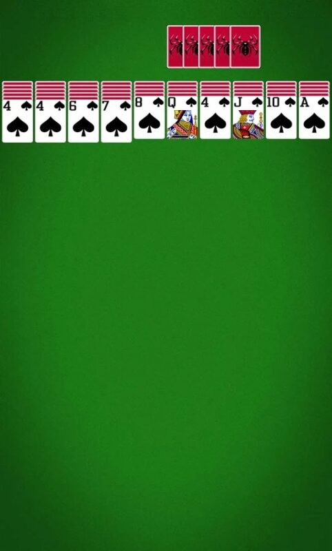 Скриншот Spider Solitaire для Android