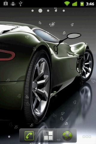 Скриншот Sport Cars Live Wallpaper для Android