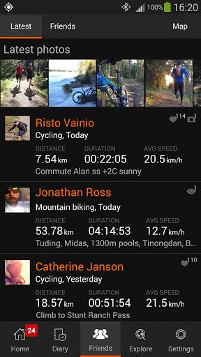 Скриншот Sports Tracker для Android