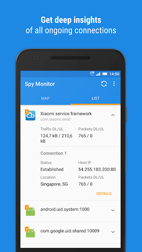 Скриншот Spy Monitor для Android