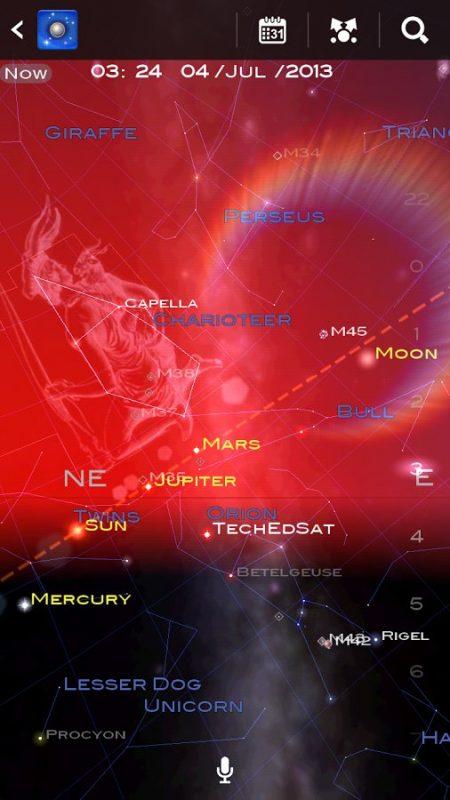Скриншот Star Chart — Звездная карта для Android