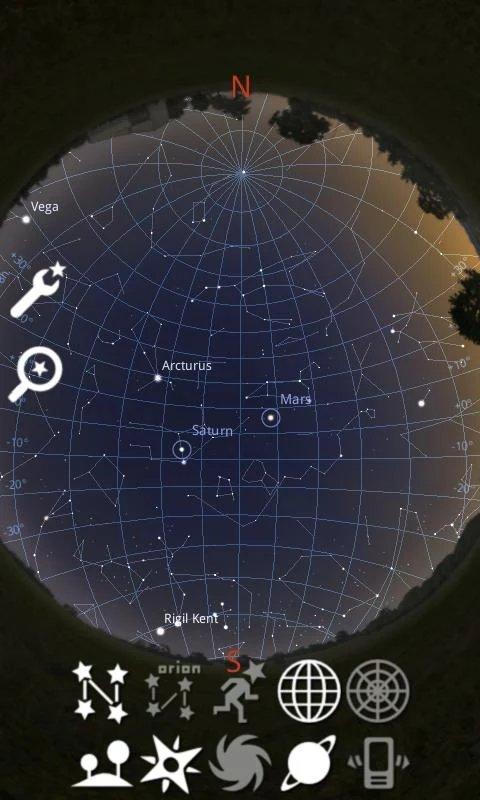 Скриншот Stellarium для Android