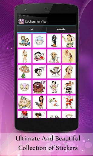 Скриншот Stickers for Viber для Android