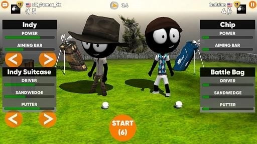 Скриншот Stickman Cross Golf Battle для Android
