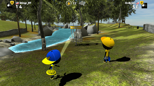 Скриншот Stickman Disc Golf Battle для Android