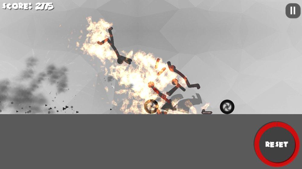 Скриншот Stickman Dismount 3 Heroes для Android