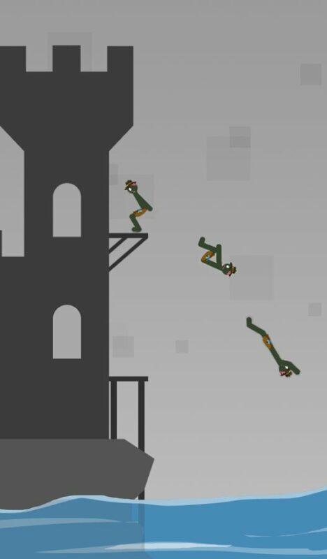 Скриншот Stickman Flip Diving для Android