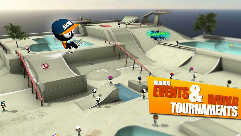 Скриншот Stickman Skate Battle для Android
