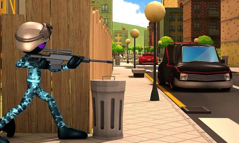 Скриншот Stickman Sniper Squad 2017 для Android