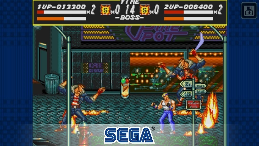 Скриншот Streets of Rage Classic для Android