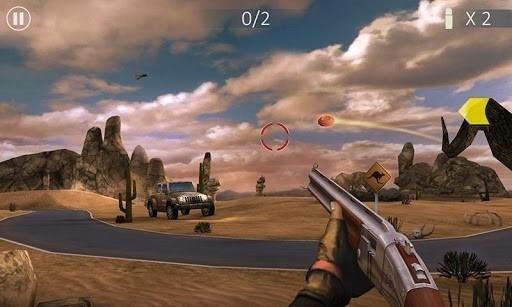 Скриншот Стрельба по тарелкам 3D для Android
