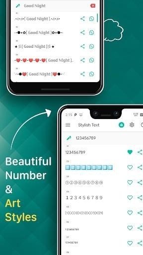 Скриншот Stylish Text для Android