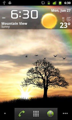 Скриншот Sun Rise Free Live Wallpaper для Android