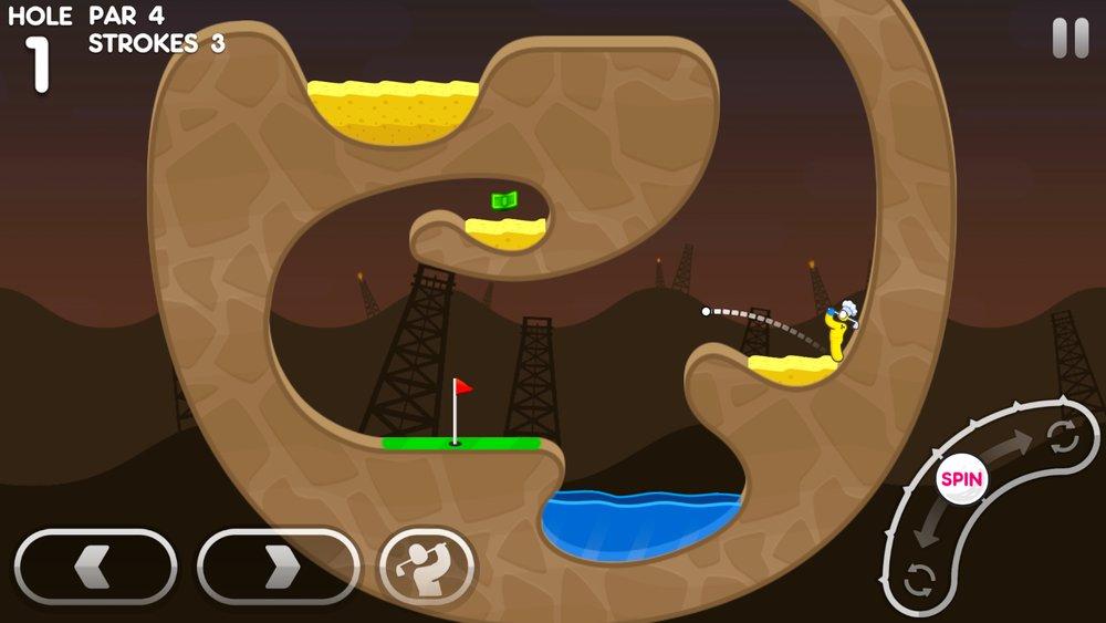 Скриншот Super Stickman Golf 3 для Android