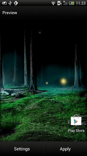 Скриншот Светлячки Живые Обои для Android