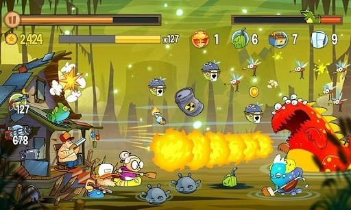 Скриншот Swamp Attack для Android