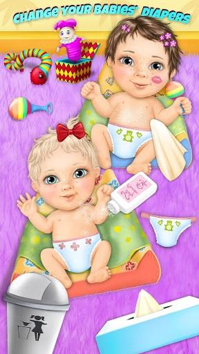 Скриншот Sweet Baby Girl Twin Sisters для Android