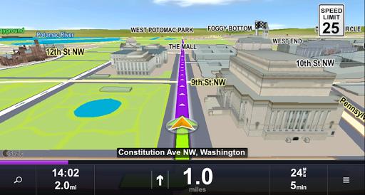 Скриншот Sygic Car Navigation для Android