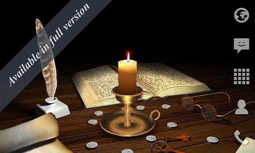 Скриншот Тающая свеча 3D / 3D Melting Candle Free для Android