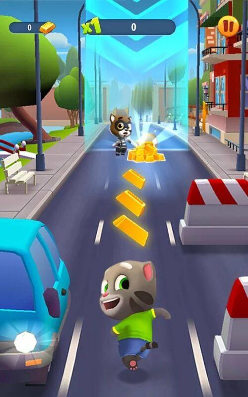 Скриншот Talking Tom: Gold Run для Android