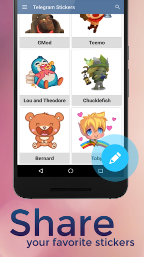 Скриншот Telegram Stickers для Android