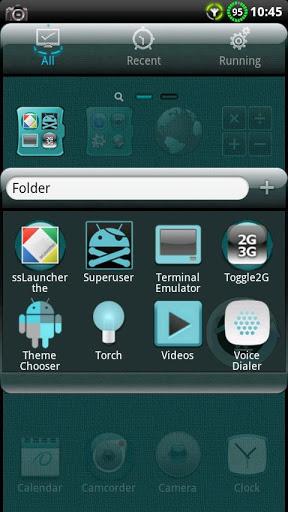 Скриншот Тема Cyanogen для Go Launcher для Android