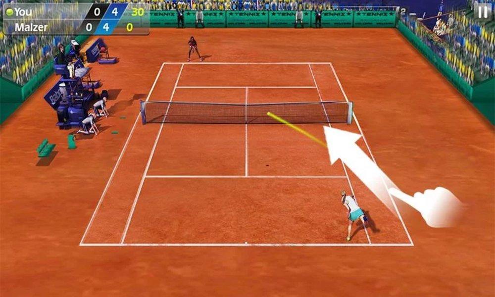 Скриншот Теннис пальцем — Tennis 3D для Android