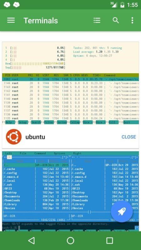 Скриншот Termius для Android