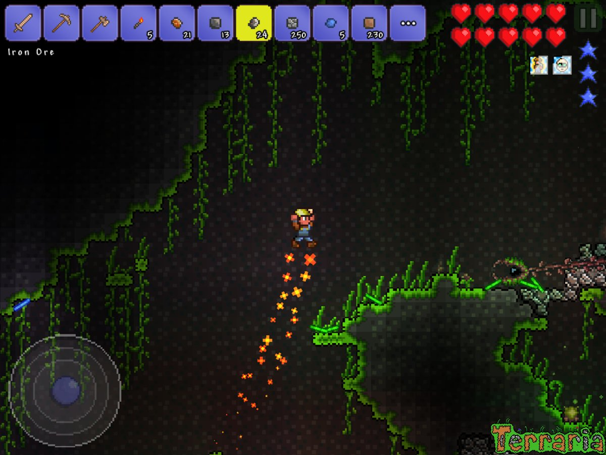 Скриншот Terraria для Android
